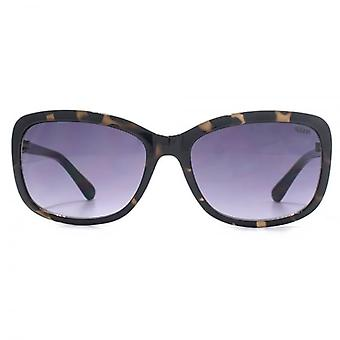 SUUNA Olivia Small Rectangle Sunglasses In Dark Tortoiseshell Silver