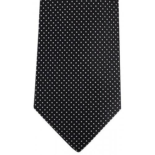 David Van Hagen Pin Dot Tie - Black/White