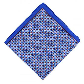 Michelsons London Quadrat Geo Taschentuch - blau