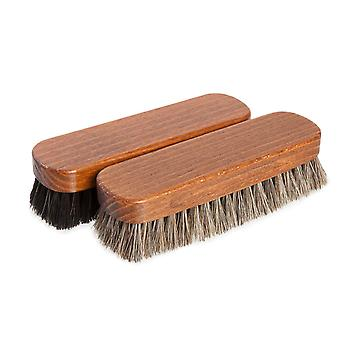 premium medium horsehair shoe polishing buffing brush for shoes and boots