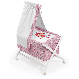 Interbaby White Crib canopied Model Riding Hood