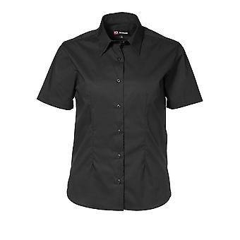 ID mujeres/damas Regular montaje camisa Stretch manga corta