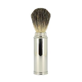 Edwin Jagger Pure Badger Nickel Plated Travel Brush 81M529