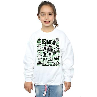 Elf Girls Infographic Poster Sweatshirt