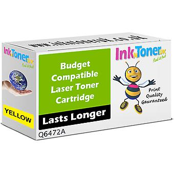 Compatible - Hp 502a Yellow Toner Cartridge (q6472a)