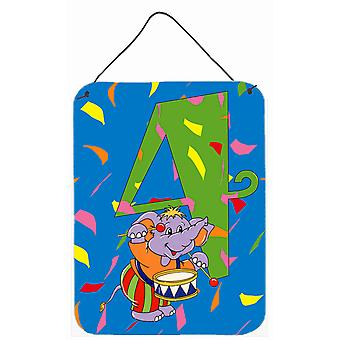 Happy 4th Birthday Age 4 Wall or Door Hanging Prints