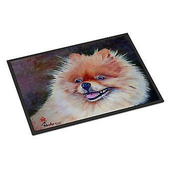 Carolines Treasures  MH1056MAT Pomeranian Head Indoor or Outdoor Mat 18x27