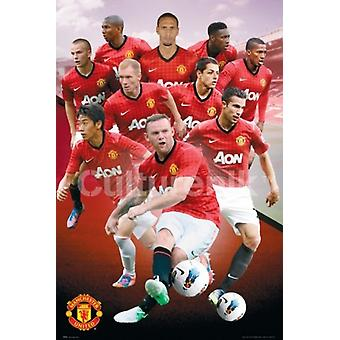 Manchester United graczy 1213 plakat Poster Print