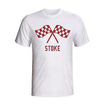 Stoke Drapeaux de ondulation de T-shirt (blanc)