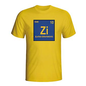 Zlatan Ibrahimovic Schweden Periodic Table T-Shirt (gelb) - Kids