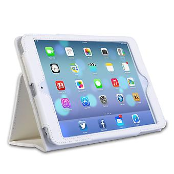 Caseflex Ipad Mini 2 texturerat läder-effekt Stand Case - vit