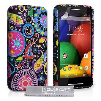 Yousave Accessories Motorola Moto E Jellyfish Silicone Gel Case
