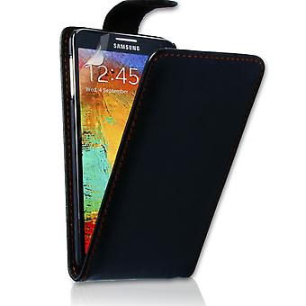 Samsung Galaxy Note 3 Leather-Effect Flip Case - Black