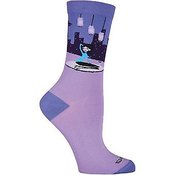 Shag Novelty Crew Socks-City Lady SGWFH-7H004
