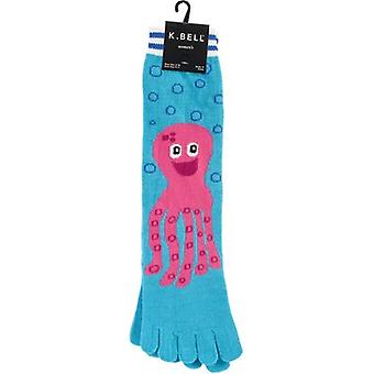 Novelty Crew Toe Socks-Pink Octopus TOE SOCK-7Z034