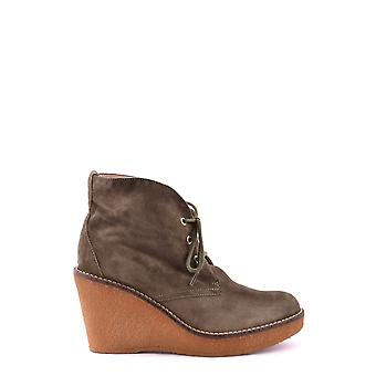 Serafini ladies MCBI277003O green Suede Ankle Boots