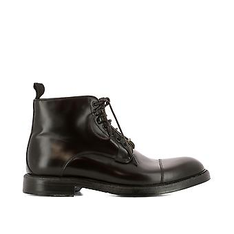 Green George men's 8001BROWN brown leather ankle boots