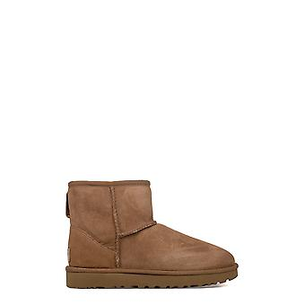Ugg women's UGSCLMCN1016222W brown leather ankle boots