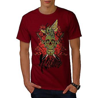 Killer Rose Bug Schädel Männer RedT-Hemd   Wellcoda