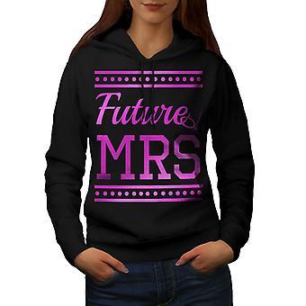 Pink Future Mrs Women BlackHoodie | Wellcoda