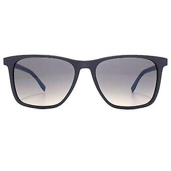 Hugo Boss Essential Fine Square Sunglasses In Matte Blue