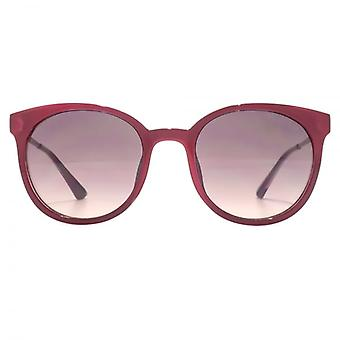 Guess Peaked Round Sunglasses In Shiny Fuchsia