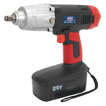 Sealey Cp2450Mh Cordless Impact Wrench 24V 2Ah Ni-Mh 1/2In Sq Drive 410Lb.Ft