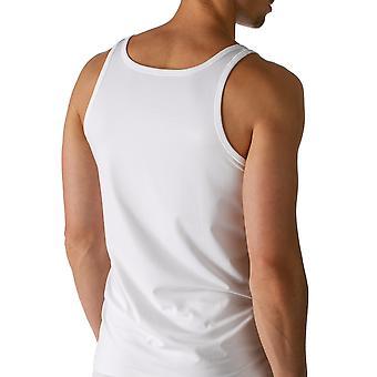 Algodón seco color sólido blanco tirantes chaleco Mey 46100-101 hombres