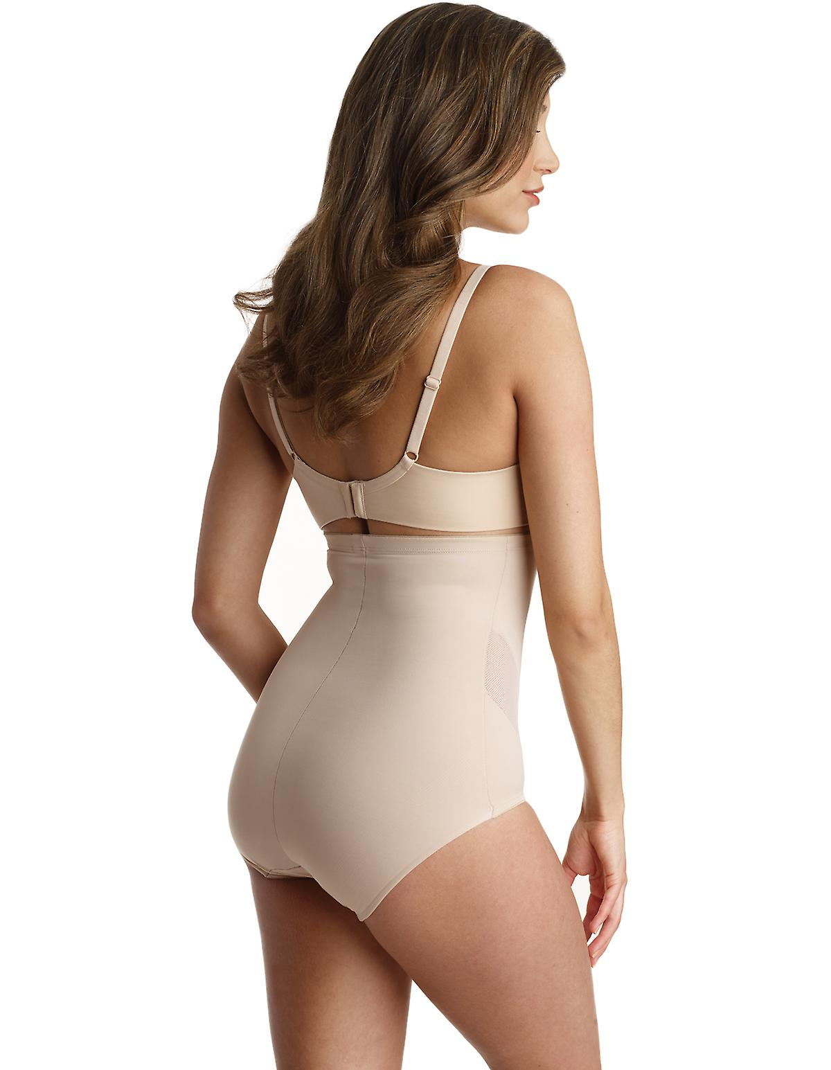 Naomi and Nicole 7425 Women's Shapewear Nude Solid Colour High Waist Brief