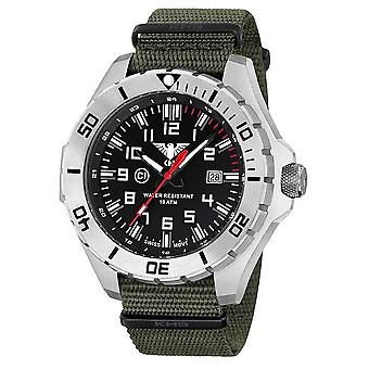 KHS horloges mens watch stalen KHS land leider. LANS.NO