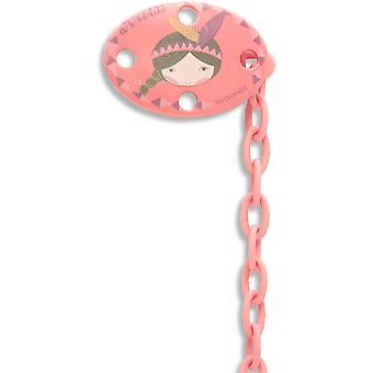 Suavinex Broche Ovalado Indio Rosa (Childhood , Childcare , Pacifiers , Clips)