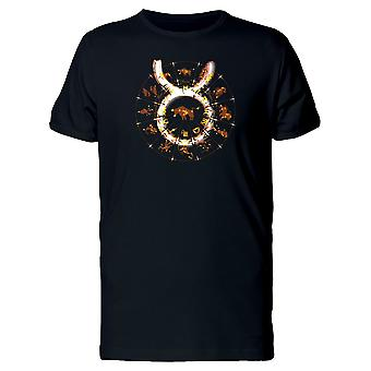 Zodiac Sign Taurus In Fire Style Tee Men's -Image by Shutterstock