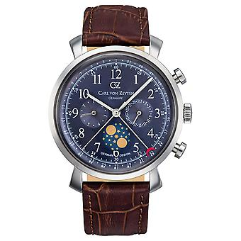 Carl of Zeyten men's watch wristwatch quartz Urach CVZ0015BL