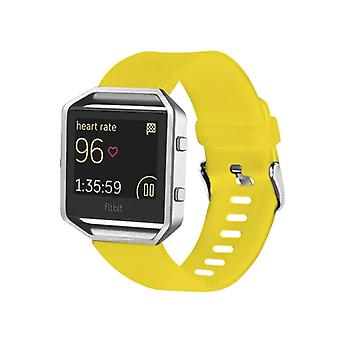 Plastic / silicone watch wristband for Fitbit yellow blaze watch accessories