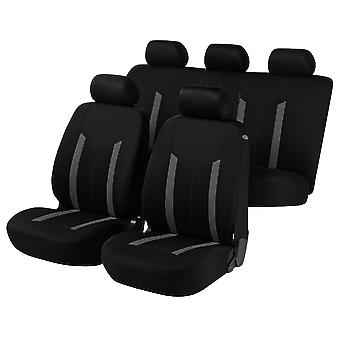 Hastings Car Seat Covers - Grey & & Black For Ford STREET KA 2003-2005
