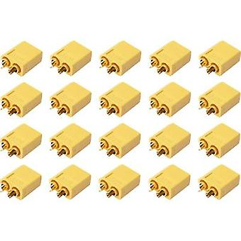 Battery plug XT60 Gold-plated 20 pc(s) Reely