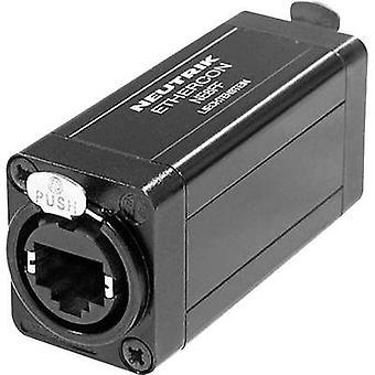 Neutrik NE8FF NE8FF RJ45 Data Connector EtherCon D Series 8P8C RJ45 Socket, straight Black