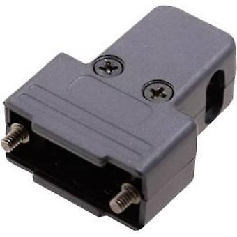 D-SUB housing Number of pins: 9 Plastic 180 °, 45 °, 45 ° Black MH Connectors MHTRI-P-09-K 1 pc(s)