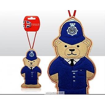 Union Jack dragen politieagent Bear kerstboom decoratie