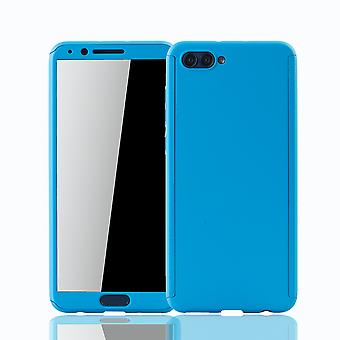 Huawei honor view 10 mobile case protection case full-cover protection glass light blue tank