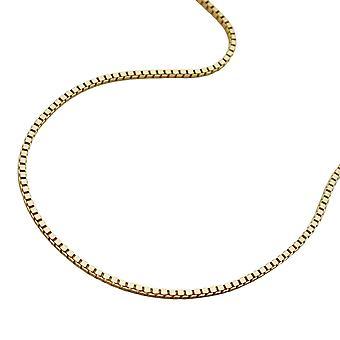 Halskjede gull 375 venetianske kjeden 42 cm, venetianske kjeden, 9 KT gull