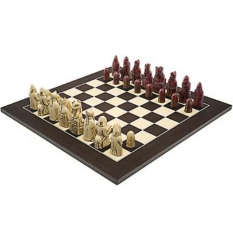 The Berkeley Chess Isle of Lewis (2nd Edt) Cardinal Wenge Chess Set