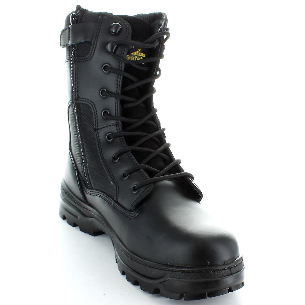 Black Dual Density Zip Safety Boot