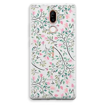 Nokia 7 Plus Transparent Case - Dainty flowers