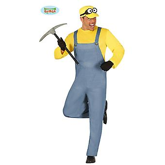 Miners costume for men coal miner mining funny craftsman battery