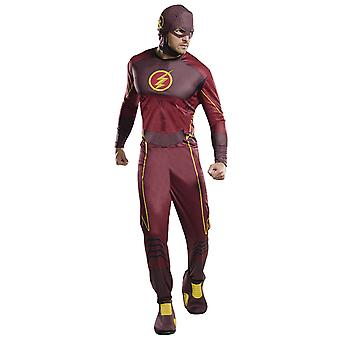 De Flash klassieke kostuum voor mannen oorspronkelijke