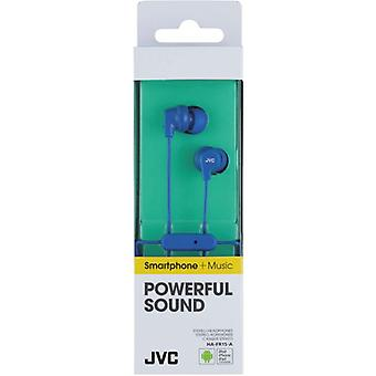 JVC HAFR15A Colourful In-Ear Earphone with Remote & Mic - Blue