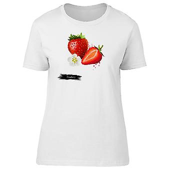 Lovely Red Strawberry Fruit Tee Women's -Image by Shutterstock