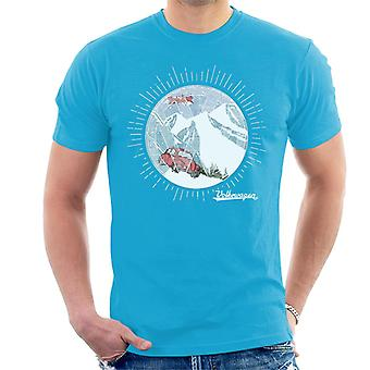Official Volkswagen Snowflake White Text Men's T-Shirt