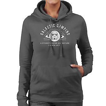 Ursprungliga Stormtrooper galaktiska Camping kvinnor är Hooded Sweatshirt